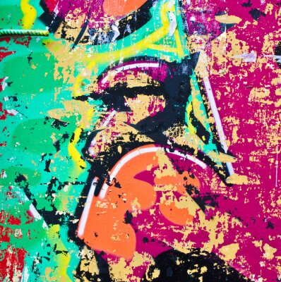 Naklejka Grunge kolorowe tło metalu