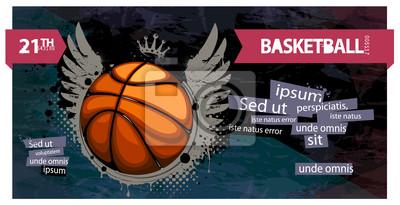 Grunge koszykówka ilustracji.
