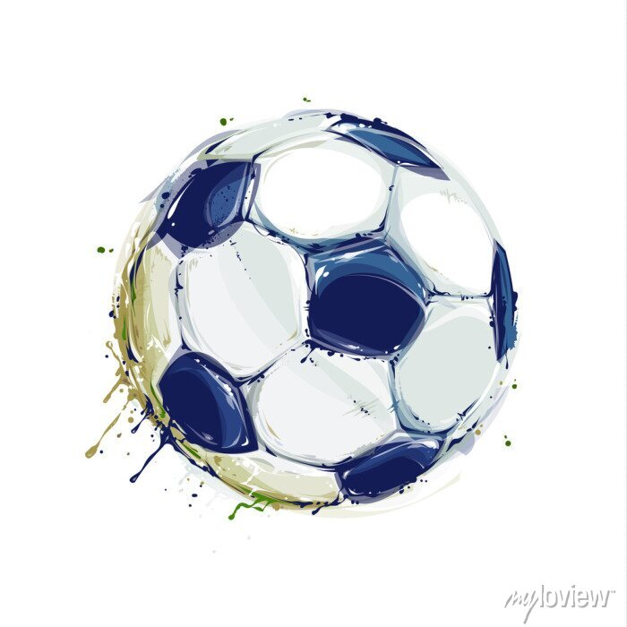 Naklejka Grunge Soccer Ball
