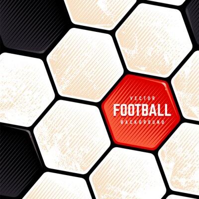 Grunge Soccer Ball Surface Background