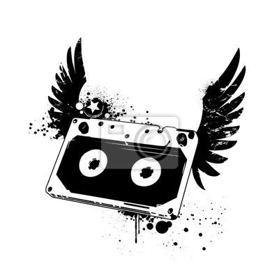 Grunge taśmy audio