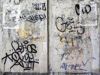 Naklejka Grunge tekstury tła ściany w Bangkoku