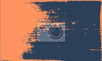 Naklejka Grunge tekstury tła. Streszczenie pomarańczowy ciemny niebieski stary szorstki retro.