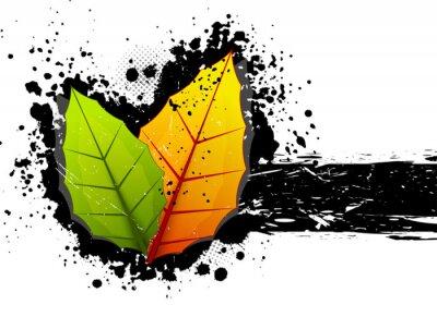 Grunge tła z liści