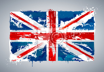 Grunge UK flag narodowych