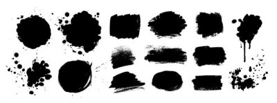 Naklejka Grunge vector hand drawn elements
