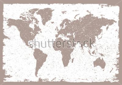 Naklejka Grunge world map.Vintage map of the world.