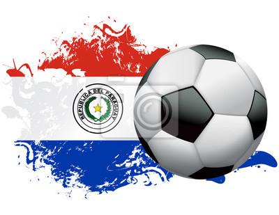 Grunge wzorów Paragwaj Piłka Nożna
