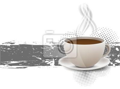 Grunge z filiżanka kawy