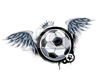 Grunge z piłką nożną