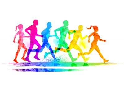Naklejka Grupa biegaczy