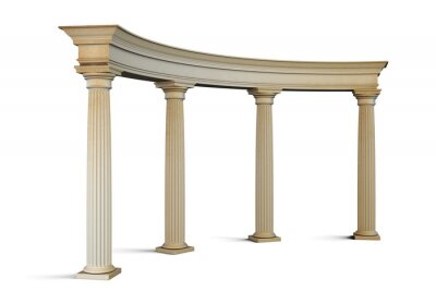 Naklejka Grupa wejściowy z kolumnami w stylu klasycznym na białym. 3