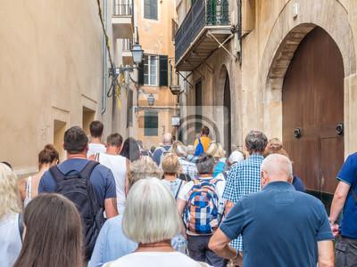 Naklejka Grupa wycieczkowa na wyspie Palma de Mallorca