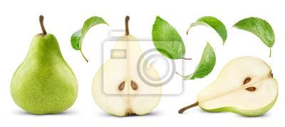 Naklejka gruszki z liściem
