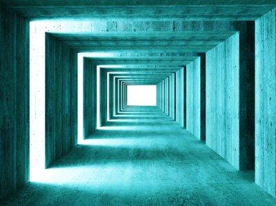 Naklejka grzywny obraz 3D tunelu streszczenie tle concretet