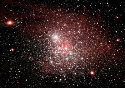 Naklejka Gwiazdy, mgławica pyłu i gazu w odległej galaktyce