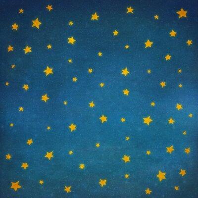 Naklejka Gwiazdy na nocnym niebie, tło ilustracji sztuki