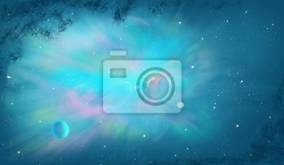 Gwiaździste niebo / przestrzeń / Digital Painting
