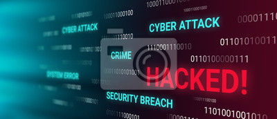 Naklejka Hacked information concept