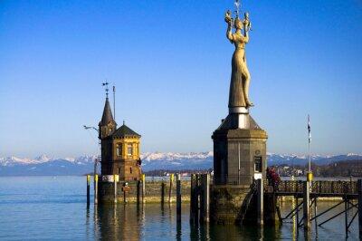 Hafen w Konstancji, Bodensee, Deutschland