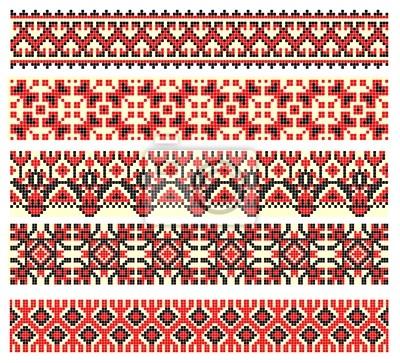 haftowane cross-stitch etniczne Ukrainy wzorzec