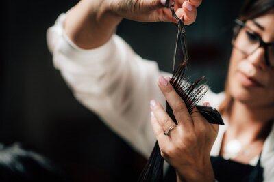 Naklejka Hair Salon, Beautiful Young Woman