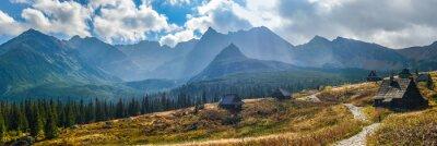 Naklejka Hali Gąsienicowej w Tatrach - panorama