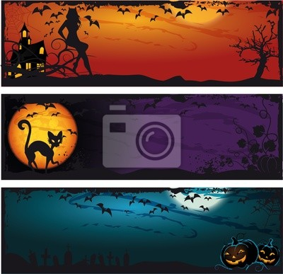 Naklejka Halloween set banner
