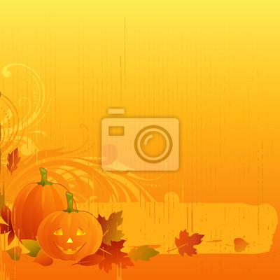Halloween w tle pomarańczowy