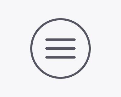 Hamburger Menu Icon - Vector