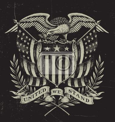 Naklejka Hand Drawn American Eagle