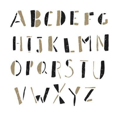 Naklejka Hand-drawn Doodles Alphabet