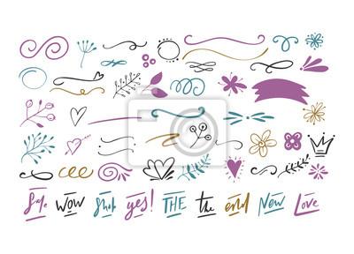 Handdrawn wektorowi doodles.