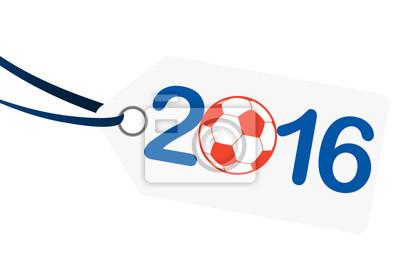 hangtag z napisem 2016 z Francją barwach narodowych