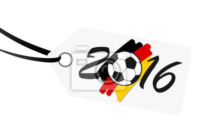 hangtag z napisem 2016 z niemieckich barwach narodowych