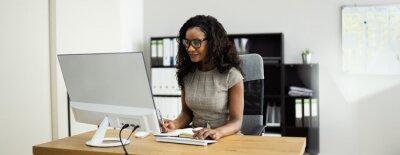 Naklejka Happy African American Business Woman