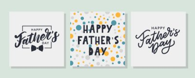 Naklejka Happy father's day. Lettering. Banner Sale Brush text pattern vector