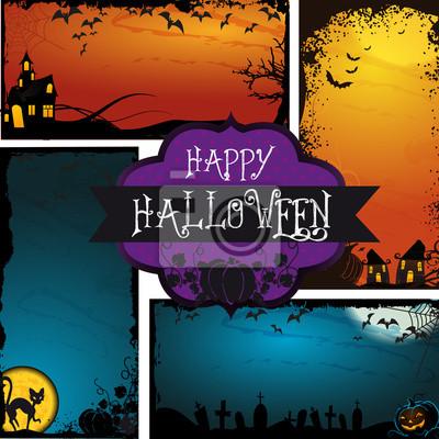 Naklejka Happy Halloween - banner