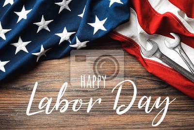 Naklejka Happy Labor Day