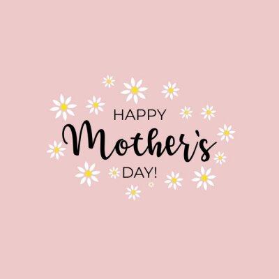Naklejka Happy Mother's Day with flowers