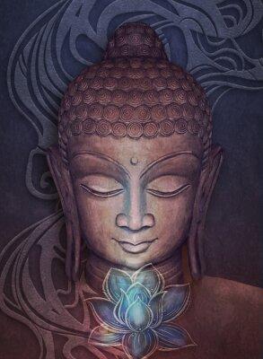 Naklejka Head Smiling Buddha