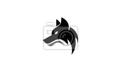 head wolf logo vector
