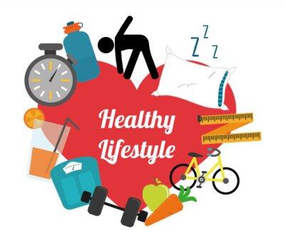 Naklejka healthy lifestyle