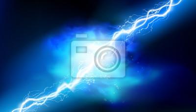 Naklejka Heat lighting. Electrical energy. Light effects. Vector illustration.