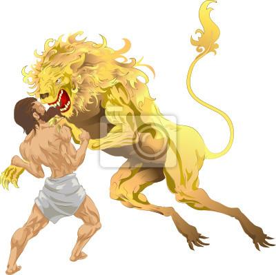 Hercules i Nemean Lion