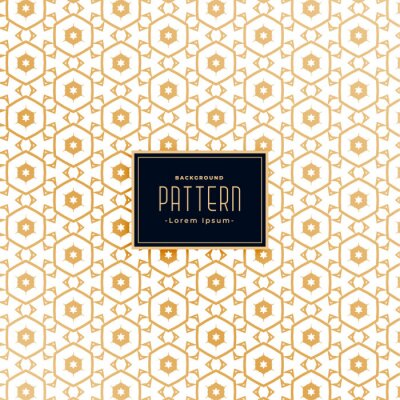 hexagonal style golden white pattern background design