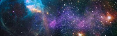 Naklejka High quality space background. Elements of this image furnished by NASA.
