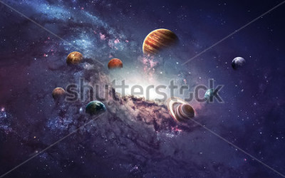 Naklejka High resolution images presents creating planets of the solar system. This image elements furnished by NASA.