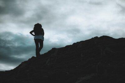 Naklejka Hiker girl, women.