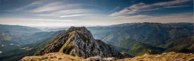 Naklejka Hiking on Piatra Craiului mountain ridge
